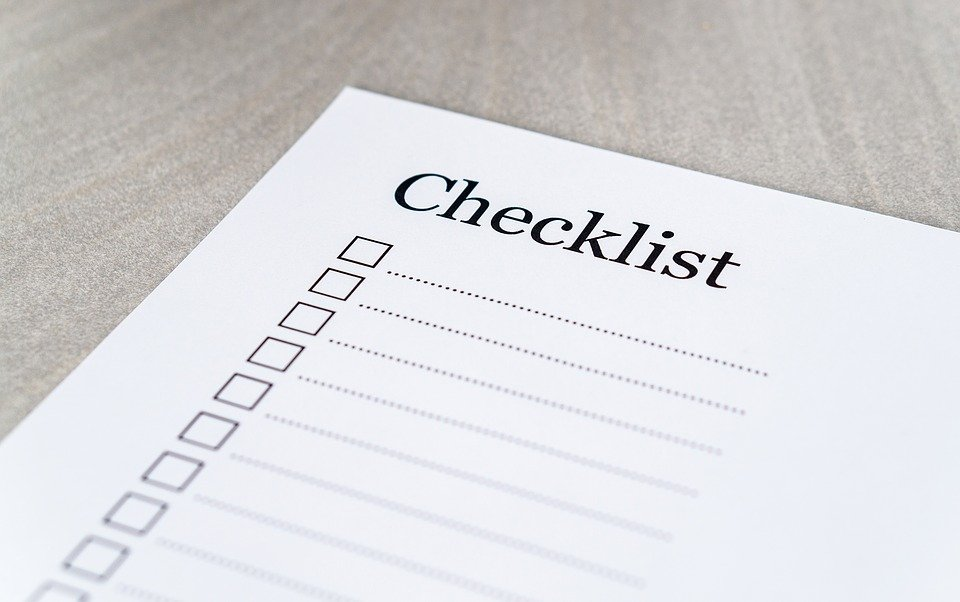 18 Point Checklist for an amicable Divorce